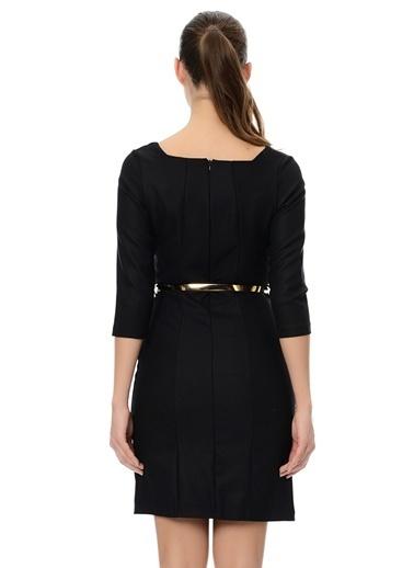 Kayık Yaka Truvakar Kol Elbise-Sense
